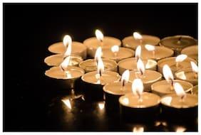 Long Burning Tea lite candles -Pack of 50