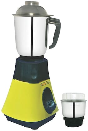 Longway SUPER DLX 650 W Mixer Grinder ( Yellow & Black , 2 Jars )