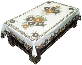 LOOMANTHA Floral Printed Cotton 4 Seater Centre Table Cover/ Cloth (Multicolor, Pack of 1)