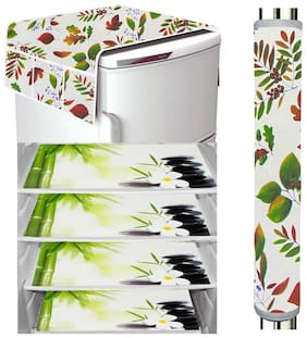 Loomantha Fridge Mat;1pc Fridge Top Cover And 1pc Handle cover -Pack Of 6