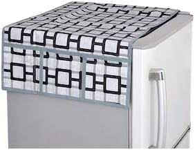 LooMantha Non-Woven Fridge/Refrigerator Top Cover With 6 Pocket