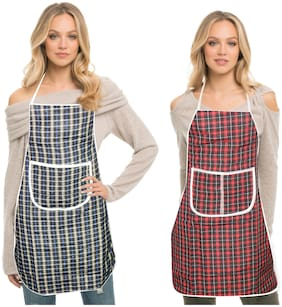 LOOMANTHA Cotton Apron Multi ( Pack of 2 )