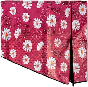 Loomantha Printed PVC Television Cover Protector for 32 inch LCD/ LED TV-All Brands & Models (Pink)