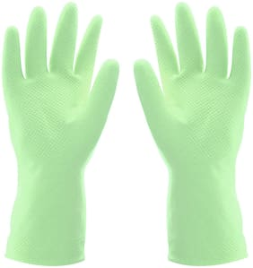 LooMantha Waterproof Household Dishwashing Cleaning Warm Glove(1 Pair)