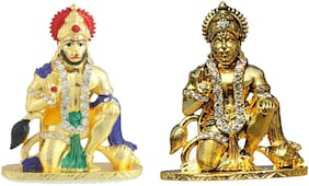 Lord Hanuman Ji For Home Office and Car Dashboard set of two