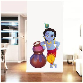 Rawpockets Wall Stickers  ' Lord Krishna and Butter Pots '