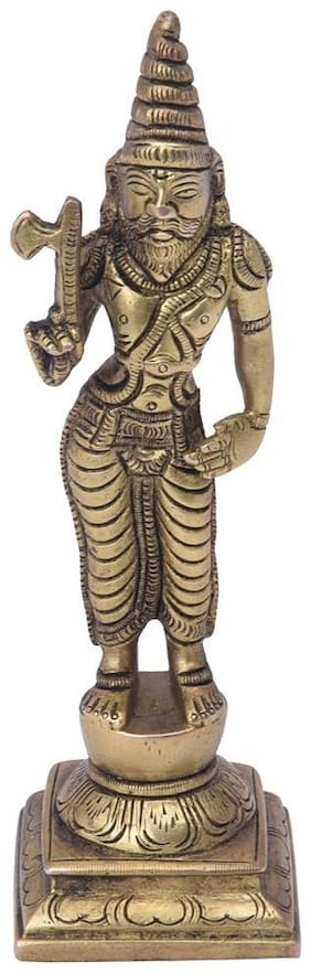 Lord Parshuram Idol with Axe symbolises Strength Table D cor by Bharat Haat BH05568