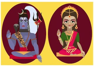 c8cef902a5b Buy Lord Shiva And Mata Parvati   WALL STICKER   DECALS Online at ...
