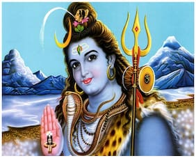 Lord Shiva Poster for room Paper Print (12  X 18 ;Rolled)