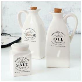 LOULONG   Salse Beautiful Home Vinegar Olive Oil Bottle Dispenser With Cork Sal..