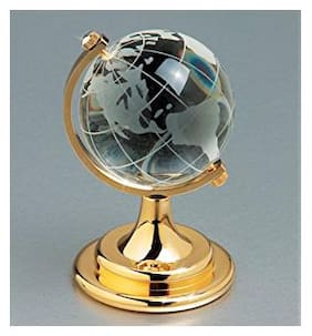 Lovato Crystal Globe Showpiece - 9 cm (Crystal, White)