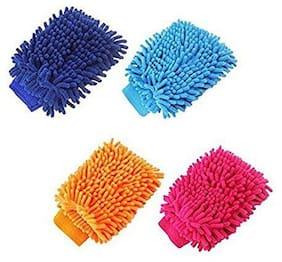Lovato Dust Cleaning Fiber Gloves 4 pcs Multicolor