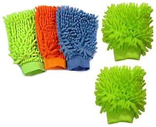 Lovato Dust Cleaning Fiber Gloves 5 pcs Multicolor