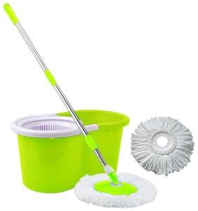 Lovato Green Plastic mop Set (Set of 4 Pcs)
