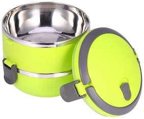 Lovato Stainless Steel 2 Layer Lunch Box Green