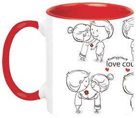 Love Couple Ceramic Mug - Couples Gifts;Valentines Day Gifts for Boyfriend;Anniversary Gifts for Him;His and Hers Gifts;Boyfriend Gift Husband Gifts by Ashvah-Mug-1717-Red