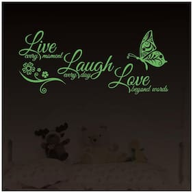 LOVE LIVE LAUGH Night Glow Wall Sticker