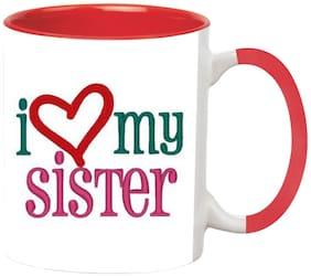 Love My Sister Ceramic Coffee Mug by Ashvah-MUG1455