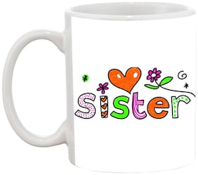 Love Sister Ceramic Coffee Mug by AshvahTM-MUG1456
