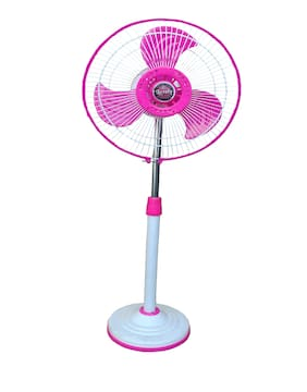 Lovely Solar Fan DC 12Volt - 22Watt Karora 304mm Double Speed Pedestal Fan (Pink;White)
