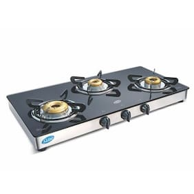 LPG Stove 1033 GT XL Forged Brass Burner Double Drip Tray