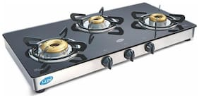 Glen 3 Burners Stainless Steel Gas Stove - Black