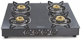 Sunflame SUNFLAME 4 Burners Stainless Steel Gas Stove - Black