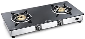 Sunflame GT 2B DIAMOND 2 Burners Stainless Steel Gas Stove - Black