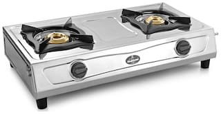Sunflame 2 Burners Gas Stove - Silver