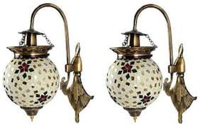 Luck n Tuk Wallchiere Lamp Glass Wall Mounted Lamp & Lighting Set of 2
