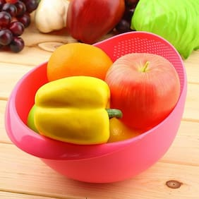 Lucky Box Big Size Plastic Grains & Vegetables Washing Bowl & Strainer,Kitchen Basket & Colander