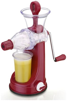 Lucky Box Fruit And Vegetable Juicer / Manual Juicer / Hand Juicer With Steel Handle And ABS Plastic Body