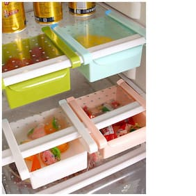 Lucky Box Multi-purpose Storage Rack Creative Kitchen Box freezer Storage Rack Shelf Pack of 2(Color May vary)