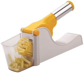Lucky Box Virgin Plastic French Fry Chipser/Chips Maker Machine/Potato Slicer with Container