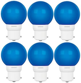 Luminous 05W LED Bulb AMBER ECO B22 Blue - Pack of 6