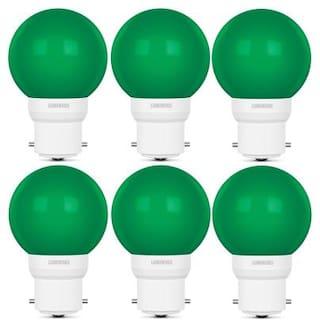 Luminous 05W LED Bulb AMBER ECO B22 Green - Pack of 6