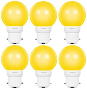 Luminous 05W LED Bulb AMBER ECO B22 Yellow - Pack of 6