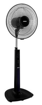 Luminous Brizza 3 Blades 400 mm Pedestal Fan (Black)