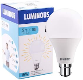 Luminous Shine Pro Base B22 15-W LED Bulbs (Cool Day Light)