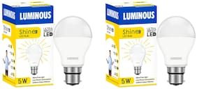 Luminous Shine Eco Base B22 5-Watt LED Bulbs