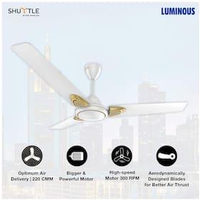 Luminous Shuttle 1200mm Ceiling Fan (Snow White)