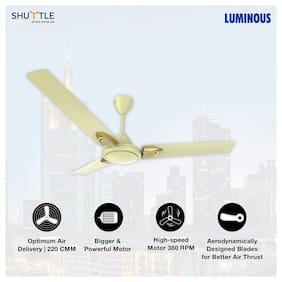 Luminous Shuttle 1200mm Ceiling Fan (Ivory)