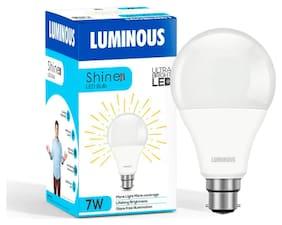 Luminous Shine Pro Base B22 7-W LED Bulbs (Cool Day Light)