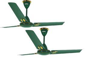 Luminous Twinkle 1200 Mm Ceiling Fan - Green , Pack Of 2