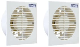 Luminous Vento Axial 150 mm Exhaust Fan - White , Pack of 2