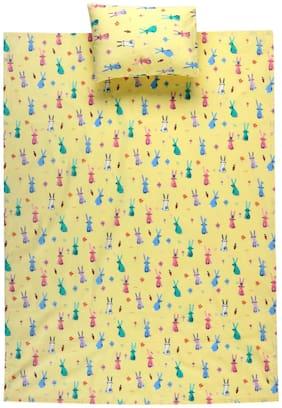 LUSH & BEYOND Cotton Single Bedsheet ( Yellow )