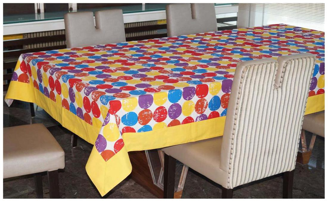 Lushomes 12 Seater Titac Printed Table Cloth