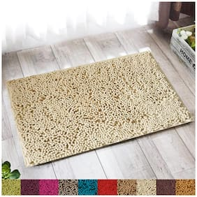 """Lushomes Chenille Angora Thick and fluffy 2200 GSM bathmat with High Pile Microfiber with Synthetic backing, Super Absorbent (12""""x 18"""", 30 x 45 cms, Single Pc)"""