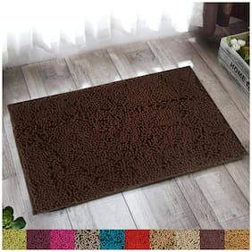 """Lushomes Chenille Patridge Thick and fluffy 2200 GSM bathmat with High Pile Microfiber with Synthetic backing, Super Absorbent (16""""x 24"""", 40 x 60 cms, Single Pc)"""