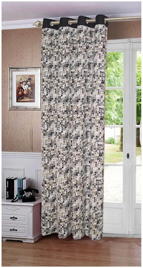 Lushomes Coins Printed Cotton Curtains for Door (Single Pc)
